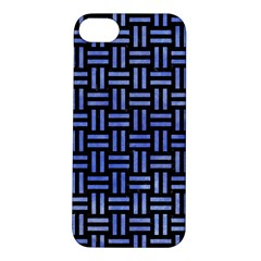 Woven1 Black Marble & Blue Watercolor Apple Iphone 5s/ Se Hardshell Case by trendistuff