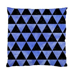 Triangle3 Black Marble & Blue Watercolor Standard Cushion Case (one Side) by trendistuff