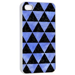 Triangle3 Black Marble & Blue Watercolor Apple Iphone 4/4s Seamless Case (white) by trendistuff