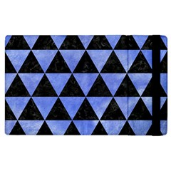 Triangle3 Black Marble & Blue Watercolor Apple Ipad 3/4 Flip Case by trendistuff