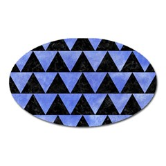 Triangle2 Black Marble & Blue Watercolor Magnet (oval) by trendistuff