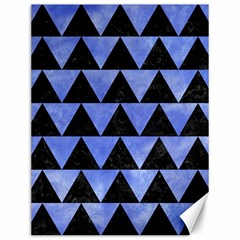 Triangle2 Black Marble & Blue Watercolor Canvas 12  X 16  by trendistuff