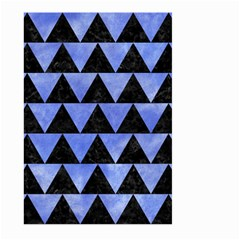 Triangle2 Black Marble & Blue Watercolor Large Garden Flag (two Sides) by trendistuff