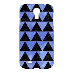 Triangle2 Black Marble & Blue Watercolor Samsung Galaxy S4 I9500/i9505 Hardshell Case by trendistuff