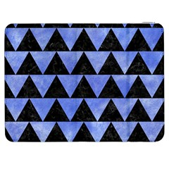 Triangle2 Black Marble & Blue Watercolor Samsung Galaxy Tab 7  P1000 Flip Case by trendistuff