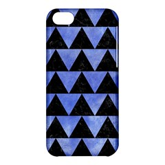 Triangle2 Black Marble & Blue Watercolor Apple Iphone 5c Hardshell Case by trendistuff