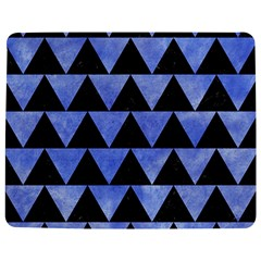 Triangle2 Black Marble & Blue Watercolor Jigsaw Puzzle Photo Stand (rectangular) by trendistuff