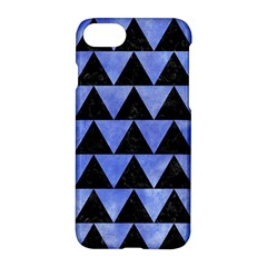 Triangle2 Black Marble & Blue Watercolor Apple Iphone 7 Hardshell Case by trendistuff