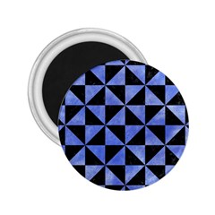 Triangle1 Black Marble & Blue Watercolor 2 25  Magnet by trendistuff