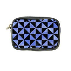 Triangle1 Black Marble & Blue Watercolor Coin Purse by trendistuff