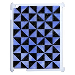 Triangle1 Black Marble & Blue Watercolor Apple Ipad 2 Case (white) by trendistuff