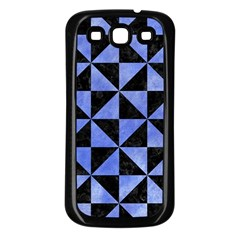 Triangle1 Black Marble & Blue Watercolor Samsung Galaxy S3 Back Case (black) by trendistuff