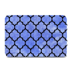 Tile1 Black Marble & Blue Watercolor (r) Plate Mat by trendistuff