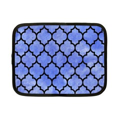 Tile1 Black Marble & Blue Watercolor (r) Netbook Case (small)