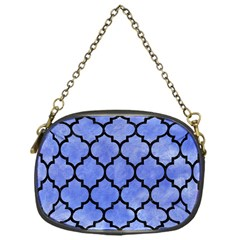Tile1 Black Marble & Blue Watercolor (r) Chain Purse (one Side) by trendistuff