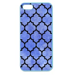 Tile1 Black Marble & Blue Watercolor (r) Apple Seamless Iphone 5 Case (color) by trendistuff