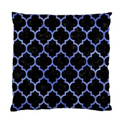 Tile1 Black Marble & Blue Watercolor Standard Cushion Case (one Side) by trendistuff