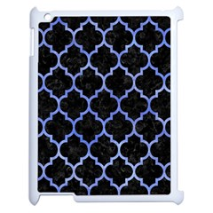 Tile1 Black Marble & Blue Watercolor Apple Ipad 2 Case (white)
