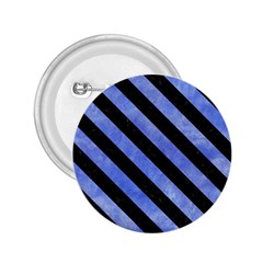 Stripes3 Black Marble & Blue Watercolor (r) 2 25  Button by trendistuff
