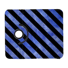Stripes3 Black Marble & Blue Watercolor (r) Samsung Galaxy S  Iii Flip 360 Case