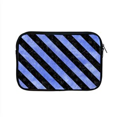 Stripes3 Black Marble & Blue Watercolor (r) Apple Macbook Pro 15  Zipper Case by trendistuff