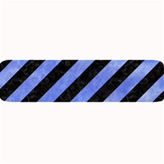 Stripes3 Black Marble & Blue Watercolor Large Bar Mat by trendistuff
