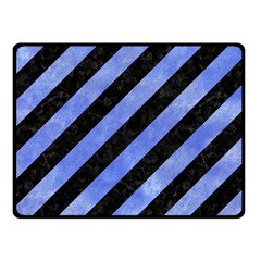Stripes3 Black Marble & Blue Watercolor Fleece Blanket (small) by trendistuff