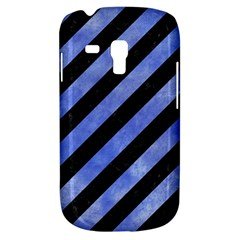 Stripes3 Black Marble & Blue Watercolor Samsung Galaxy S3 Mini I8190 Hardshell Case by trendistuff