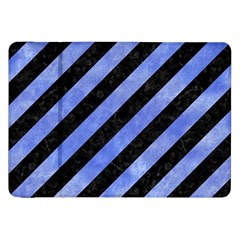 Stripes3 Black Marble & Blue Watercolor Samsung Galaxy Tab 8 9  P7300 Flip Case by trendistuff