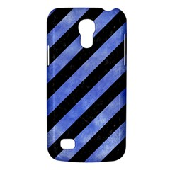 Stripes3 Black Marble & Blue Watercolor Samsung Galaxy S4 Mini (gt I9190) Hardshell Case  by trendistuff