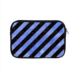 Stripes3 Black Marble & Blue Watercolor Apple Macbook Pro 15  Zipper Case by trendistuff