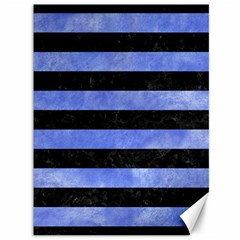 Stripes2 Black Marble & Blue Watercolor Canvas 36  X 48  by trendistuff