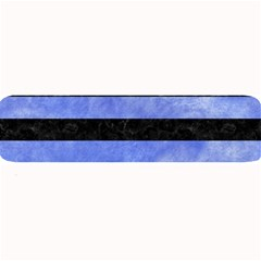 Stripes2 Black Marble & Blue Watercolor Large Bar Mat by trendistuff