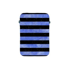 Stripes2 Black Marble & Blue Watercolor Apple Ipad Mini Protective Soft Case by trendistuff