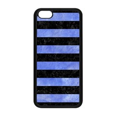 Stripes2 Black Marble & Blue Watercolor Apple Iphone 5c Seamless Case (black) by trendistuff