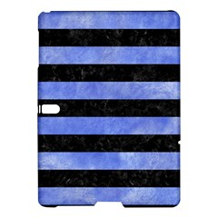Stripes2 Black Marble & Blue Watercolor Samsung Galaxy Tab S (10 5 ) Hardshell Case  by trendistuff
