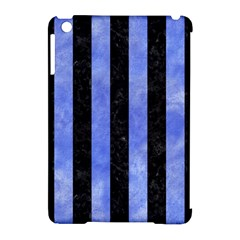 Stripes1 Black Marble & Blue Watercolor Apple Ipad Mini Hardshell Case (compatible With Smart Cover) by trendistuff