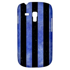 Stripes1 Black Marble & Blue Watercolor Samsung Galaxy S3 Mini I8190 Hardshell Case by trendistuff