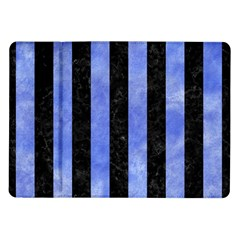 Stripes1 Black Marble & Blue Watercolor Samsung Galaxy Tab 10 1  P7500 Flip Case by trendistuff