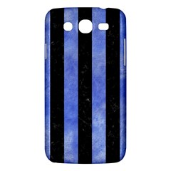 Stripes1 Black Marble & Blue Watercolor Samsung Galaxy Mega 5 8 I9152 Hardshell Case