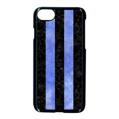 Stripes1 Black Marble & Blue Watercolor Apple Iphone 7 Seamless Case (black) by trendistuff