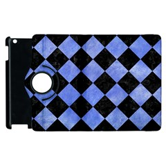 Square2 Black Marble & Blue Watercolor Apple Ipad 3/4 Flip 360 Case by trendistuff