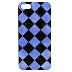 Square2 Black Marble & Blue Watercolor Apple Iphone 5 Hardshell Case With Stand by trendistuff