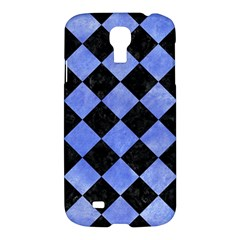 Square2 Black Marble & Blue Watercolor Samsung Galaxy S4 I9500/i9505 Hardshell Case by trendistuff
