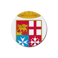 Coat Of Arms Of The Italian Navy  Rubber Coaster (round)  by abbeyz71