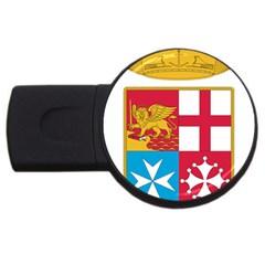 Coat Of Arms Of The Italian Navy  Usb Flash Drive Round (2 Gb) by abbeyz71
