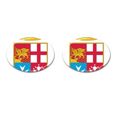 Coat Of Arms Of The Italian Navy  Cufflinks (oval) by abbeyz71