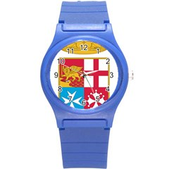Coat Of Arms Of The Italian Navy  Round Plastic Sport Watch (s) by abbeyz71