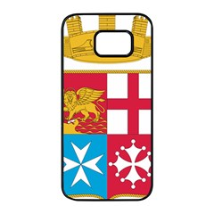 Coat Of Arms Of The Italian Navy  Samsung Galaxy S7 Edge Black Seamless Case by abbeyz71