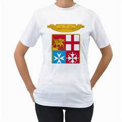Coat Of Arms Of The Italian Navy Women s T-shirt (white) (two Sided) by abbeyz71